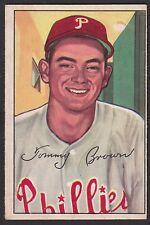 1952 Bowman #236 Thomas Tom Tommy Buckshot Brown Chicago Cubs Hi# baseball card