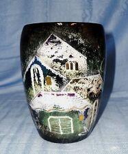 Sascha Brastoff Black Rooftop Vase