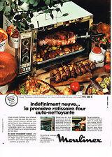 PUBLICITE  1971   MOULINEX   rotissoire-four auto-nettoyante