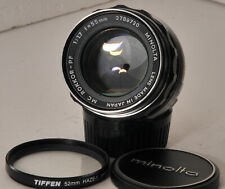Minolta MC Rokkor-X PF 50mm f1.7 normal lens w/ MC/MD mount + case