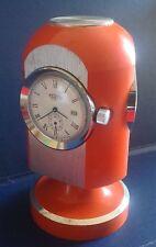 ZEDON-OROLOGIO DA TAVOLO-SPACE AGE-vintage Table Clock-termometro-igometro-