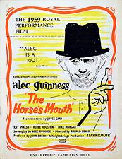 HORSE'S MOUTH 1958 Alec Guinness, Kay Walsh, Renée Houston UK PRESSBOOK