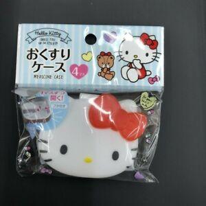 【Sanrio】Hello kitty pill medicine case DAISO JAPAN 4 pockets DressYouUp InStyle