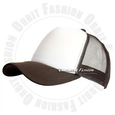 Trucker Hat Foam Mesh Back Baseball Cap Snapback Curved Plain Blank Adjustable