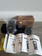 New listing Mint- Boxed Complete Nikon Sb-600 Shoe Mount Flash, Stand, Case, Manuals