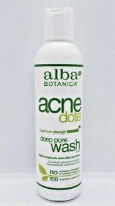 Alba Botanica Acnedote Maximum Strength Deep Pore Wash Oil Free 6oz