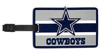 Dallas Cowboys Travel Bag Tag Luggage ID Tag Team Colors NFL