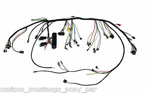 Ford Mustang Underdash Wiring Harness Modern Fusebox & Relays 1966 66 All Models