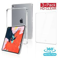 Screen Guard w/Case for iPad Pro 12.9 2018 3rd gen, Transparent Soft Back Cover