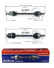 For Honda Odyssey FWD 1999-2004 Pair of Front CV Axle Shafts SurTrack Set