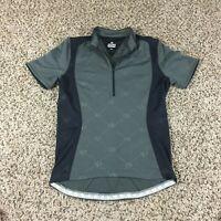 PEARL IZUMI Men Sz S Cycling Jersey Shirt Half Zip Gray All Over Print NICE