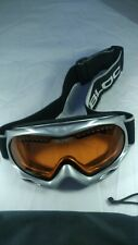 Silver BLOC Snowboarding Goggles with Fog lense and adjustable strap - worn once