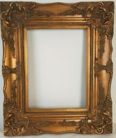 Fits 12 x 16 Traditional Gold Wood Frame Antique Style Decoration Frame