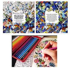 English Adult Graffiti Gifts Books Wonderland Exploration Coloring Book New