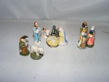 10 x Porzellan-Figur-Figuren-Krippe-Weihnachten-Kaufladen-Puppenhaus-Puppenstube