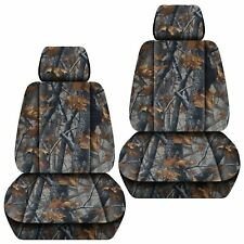 Fits 2015-2019 Toyota Hilux  front BUCKETS , car seat covers  camouflage