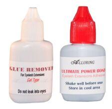 Combo ALLURING Ultimate Power Bond Glue +Gel Remover Eyelash Extension