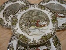 Johnson Bros Brothers Friendly Village The School House Set of 4 Dinner Plates