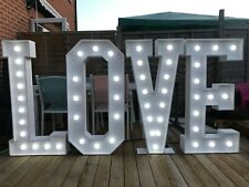 4ft White Light Up love letters with lights - Wedding Marquee Venue Decoration