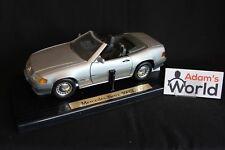 Bauer Master Toy Mercedes-Benz 500 SL Roadster 1989 1:18 silver (JS)