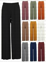 New Ladies Wide Leg Pleated Harem Culottes Crinkle Palazzo Summer Beach Trouser