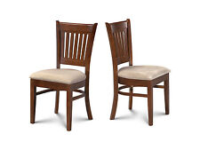 4 DINETTE KITCHEN DINING CHAIRS WITH PADDED SEAT IN  ESPRESSO FINISH