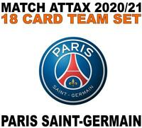 Match Attax Champions League 2020/21 PARIS SAINT-GERMAIN 18 card team set