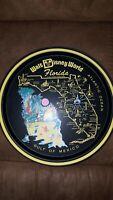 "Vintage WALT DISNEY WORLD Florida Black METAL SERVING TRAY 10.75"" J1"