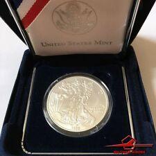 1986-W Silver Eagle 1 Dollar Coin 1 Oz Fine Silver. Liberty. With box