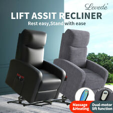 Levede Recliner Chairs Electric Massage Chair Lift Armchair Heated Heating Sofa