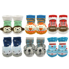 Wrapables Fun and Playful 3D Cartoon Anti-Skid Baby Booties Sock Slipper Shoes