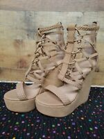 LAMB Zipper Platform Women's Heels Shoes Size: 8.5 Pre-owned