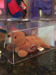 Authenticated *Rare* TUSK the Walrus 3rd/2nd Generation Ty Beanie Baby MWMT-MQ !