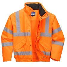Portwest orange hi-vis waterproof breathable bomber jacket #RT62