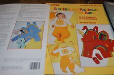Leisure Arts Knitting Pattern 277 Sunshine & Rainbows Baby Knit & Crochet worste