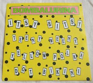 """Bombalurina - Itsy Bitsy Teeny Weeny Yellow Polka Dot  - 7"""" Vinyl Single 1990"""