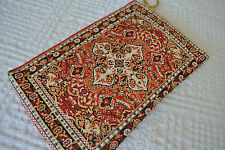 Red Tapestry Clutch Vintage Style Envelop Bag Zippered - Free Worlwide Shipping!
