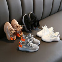 Fashion Kids Boys Girls Casual Athletic Sneakers Running Sports Breathable Shoes