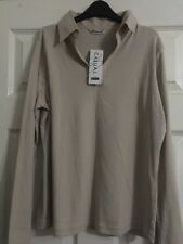 Berkertex Light Pebble Long sleeve Cotton ladies top size 12 new with tags