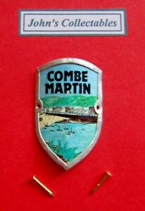 COLLECTABLE COMBE MARTIN WALKING / HIKING STICK BADGE  / MOUNT LOT V