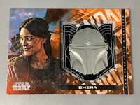 2020 Topps Star Wars The Mandalorian Season 1 Helmet Medallion Omera M-OH