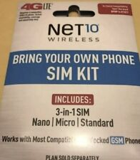 NET10 (GSM) TRI CUT SIM CARD 3/1 For A Phone Lot Of 5