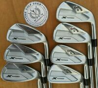 CALLAWAY X FORGED 18 IRONS 4 - PW - PX 5.5 RIFLE SHAFTS