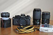EX! Nikon EM Film Camera w/ Two Lenses and Extras!