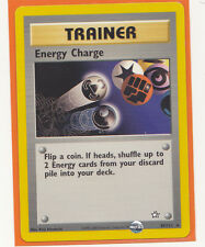 Unlimited Pokemon 1 x ENERGY CHARGE  # 85/111 Rare card Neo Genesis Never Played