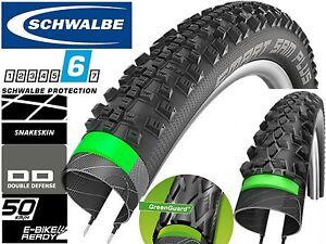 SCHWALBE SMART SAM PLUS Snake Skin Marathon GreenGuard 26 29 x 2.1 2.25 MTB Tyre