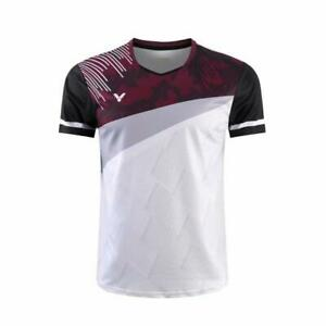 Men Badminton Short sleeve T-Shirts Tennis clothes Polyester Sport Tops