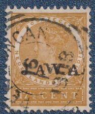 DUTCH INDIES  1908  JAVA  On   17 1/2 Cent   Good  Used    (P19)