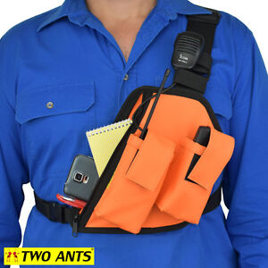Radio Holster Chest Harness Left Enclosed Double - Two Ants Trap Jaw CT200DLOE
