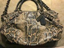 COACH-16346-MADISON-SOPHIA-LT BLUE PYTHON LEATHER-SHOULDER BAG/PURSE-RET $598